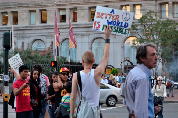 A Better World is Possible - a student protester early on in Occupy SF